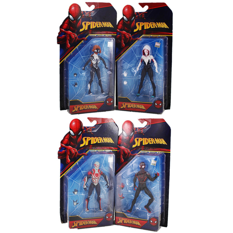 16.5cm Spider Woman Gwen Stacy Figure Model Toy SpiderMan cool SpiderWoman Homecoming superhero Spider Man Hot Action Figure Toy figma x man series spiderman figure no 001 revoltech deadpool with bracket no 002 revoltech spider man action figures