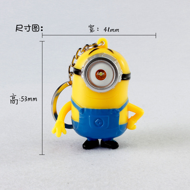 Despicable Me Minions LED Keychain Keyring