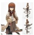 Anime New 24 cm Steins Portão Makise Kurisu PVC Action Figure Modelo Brinquedos Presente de Natal Collectible Modelo boneca Frete Grátis
