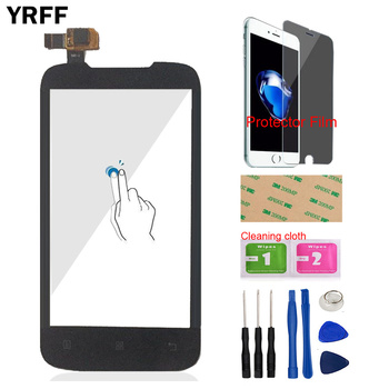 Mobile Phone For Lenovo A369 A369i Touch Screen Digitizer Sensor Front Panel Outer Glass Lens Repair + Protector Film Adhesive mobile phone touch panel for tele2 maxi lte touch screen digitizer repair touchpad front glass lens sensor tools adhesive