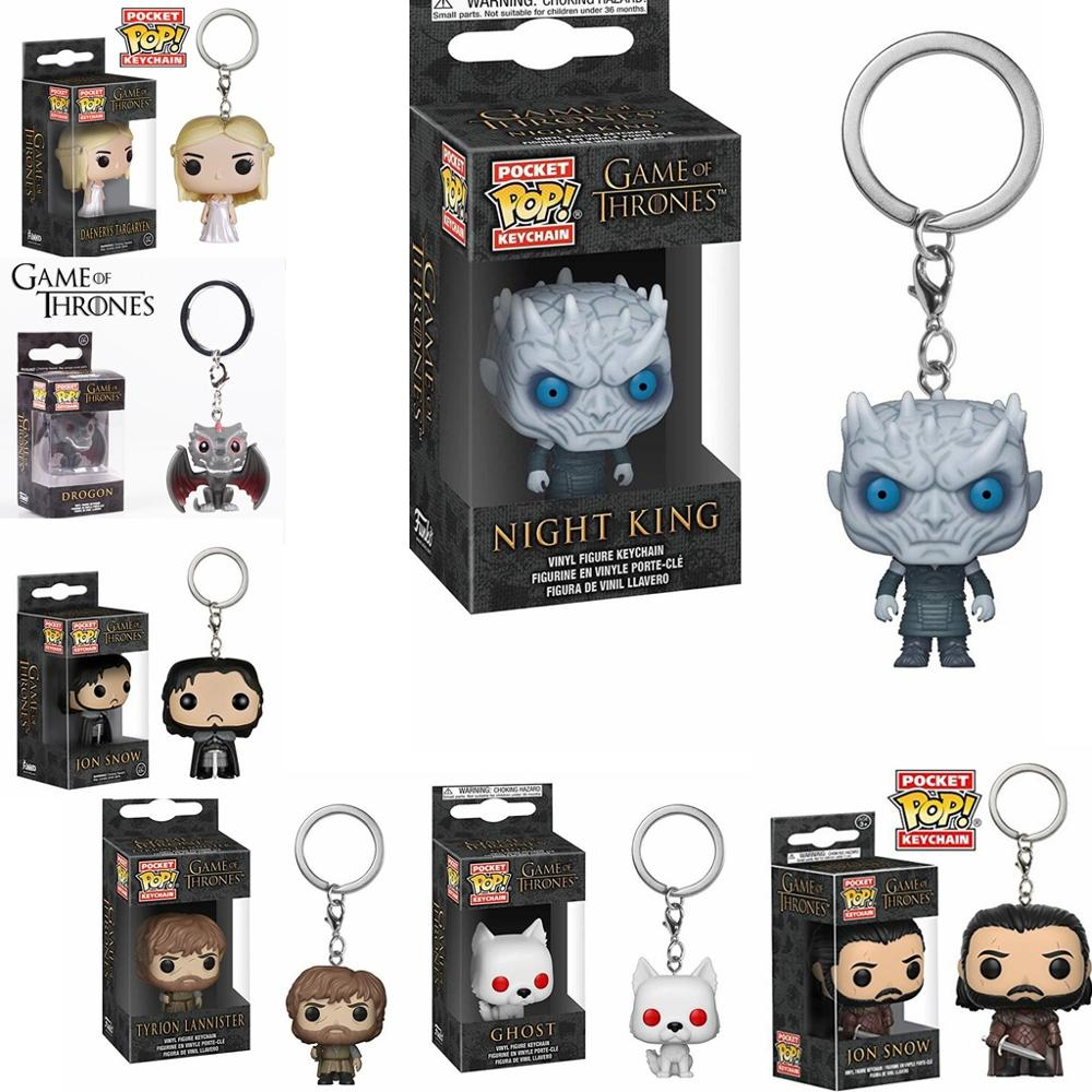 2019 Hot New Funko pop Game of Thrones Harri Potter KeyChain Accessories figures model toy gifts Collection For Men And Women