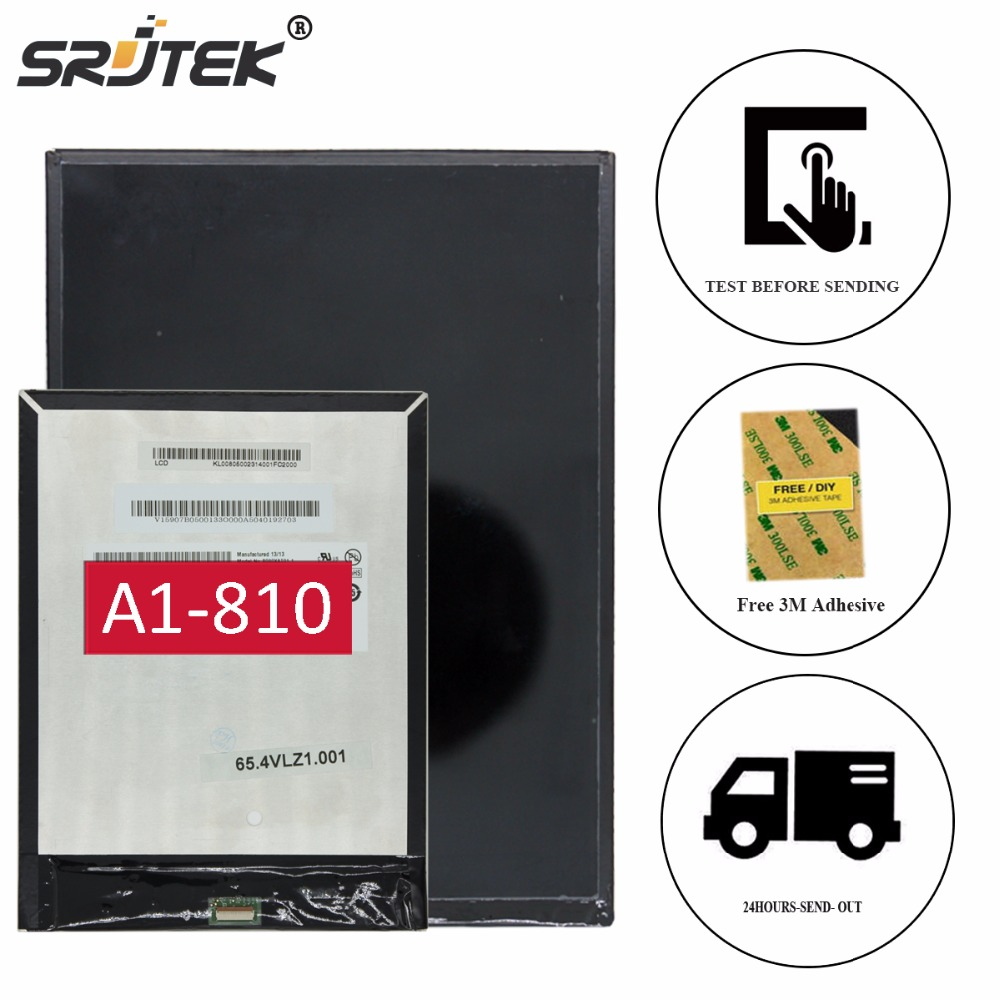 Srjtek 7.9 For Acer Iconia Tab A1 A1-810 A1-811 LCD Display Panel Screen Monitor Replacement Free Shipping for acer iconia tab a1 a1 810 a1 811 a1 810 tablet pc touch screen panel digitizer glass lens sensor repair parts replacement