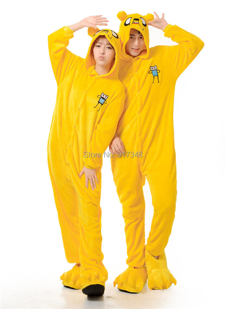 Adventure Time With Finn And Jake Dog Costume (not include slipper) for Adult Cartoon Animal Cosplay Onesies Pajamas Jumpsuit