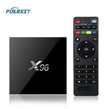 PUERSIT S905X X96 TV BOX Amlogic 64 bits Android 6.0 Cortex Malvavisco A53 Quad Core 2G + 16G 4 K Conjunto de Medios Top Box Wifi YouTube