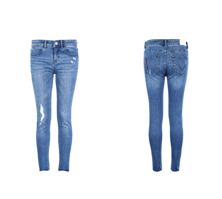 ONLY Women's autumn new low waist slim cropped jeans| 118349591 19