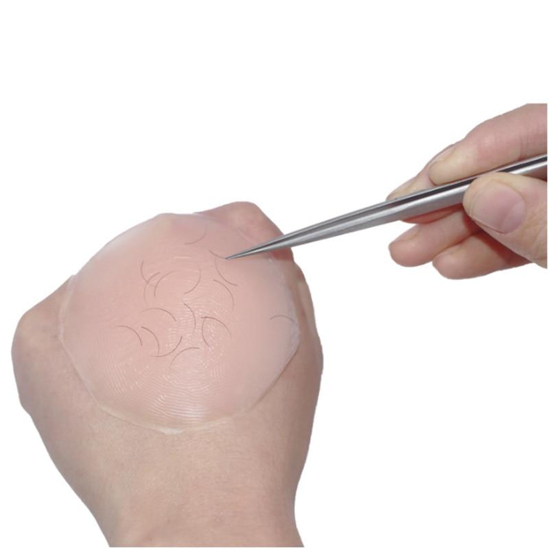 1Pcs Reusable Silicone False Eye Lashes Holder Pad Tray Holder for Eyelashes Extensions Makeup Tools Round