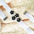 TOPQUEEN 97 StockFree shipping cheap Black Wedding Belt white Bridal Sash Dress Accessories