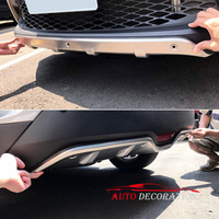 For Toyota C HR CHR 2016 2017 2018 Car styling Accessories Steel Exterior Front & Rear Skid Plate Bumper Board Guard Cover 2*