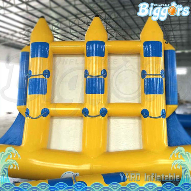 Inflatable biggors multiperson barco flyfish inflável para parque de diversões