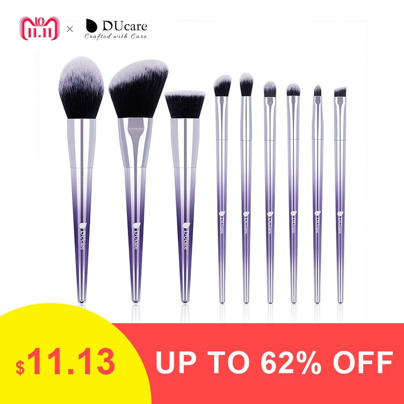 все цены на DUcare 9 PCS Makeup Brush Set Makeup Brushes Powder Eyeshadow Foundation Concealer Eyebrow Brush Cosmetic Tools