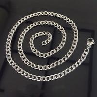 Titanium Necklace, No Nickel for Sensitive Skin, Simple Modern Elegant Pure Titanium Curb Chain Necklace