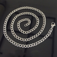 Titanium Necklace, No Nickel for Sensitive Skin, Simple Modern Elegant Pure Titanium Curb Chain Necklace
