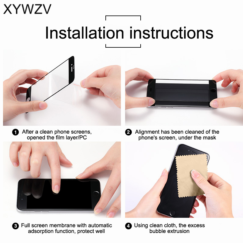 XYWZV 5D Full Glue Tempered Glass For OPPO R17 Pro Screen Protector For OPPO R17 Pro Protective Film For OPPO R17 Pro Glass Film in Phone Screen Protectors from Cellphones Telecommunications