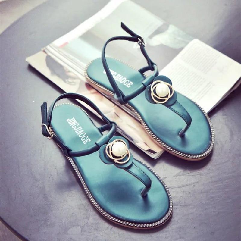2018 New Summer Flat Sandals Ladies Bohemia Beach Flip Flops Shoes Gladiator Women Shoes Sandles Platform Clip Toe Shoes