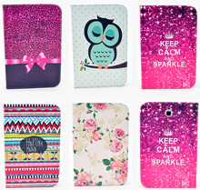 Fashion Bowtie Rose Owl Pattern Wallet Flip PU Leather Tablet Back Cover For Samsung Galaxy Note 8.0 N5100 N5110 GT-N5100 Case