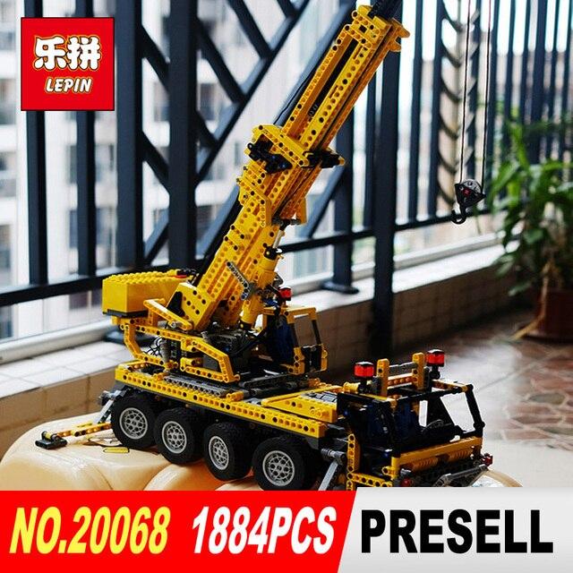LEPIN 20068 1884Pcs Technic Mechanical Series Classic Crane Educational  Building Blocks Bricks Compatible Toy Model 8421