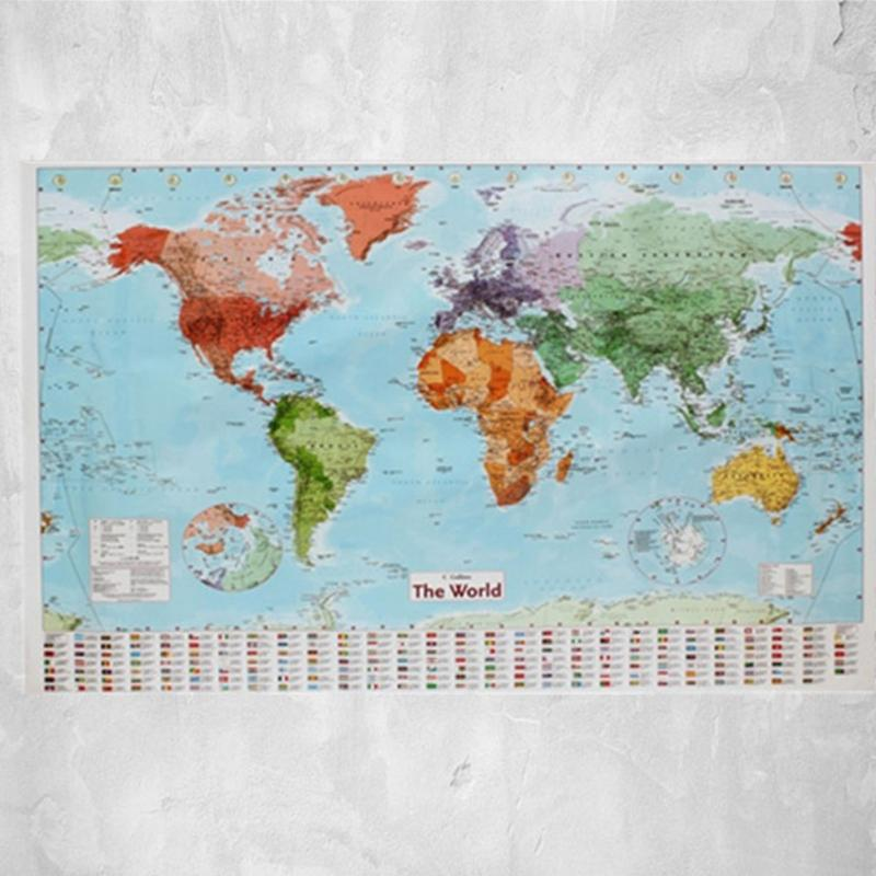 Office wall decorative wallpaper world map wall sticker paper 975 office wall decorative wallpaper world map wall sticker paper 975x675cm with country flags wall chart political in wallpapers from home improvement on gumiabroncs Choice Image