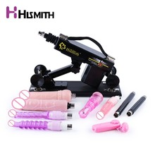 Hismith Automatic Sex Machine for women with 9 attachments Retractable Pumping gun masturbation love machine sex toys CE ROHS все цены