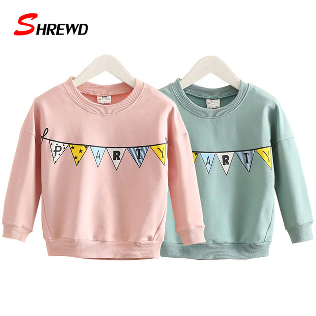 Hoodies For Kids 2016 New Aututmn Casual Pattern Printing Baby Girl Sweatshirt Simple Long Sleeve Cute Baby Girl Clothes 4121Z