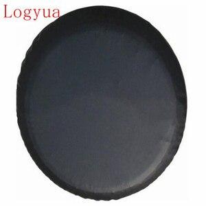 """Image 1 - 1 Uds negro puro 13 ,14"""", 15 """",16"""",17 """"18 pulgadas PVC PU neumático de repuesto cubierta de válvula de rueda para coches ruedas Accesorios"""