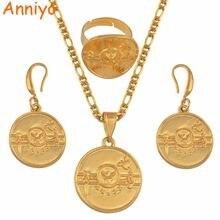 Anniyo png hela флаг золотой цвет кулон ожерелья серьги кольцо