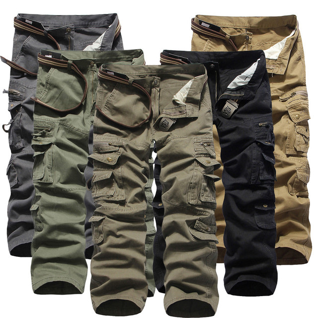 2015 New Arrival Army Green 5Colors Plus Size Militray Men's Pants Brand Designer Straight Pocket Trousers for Men