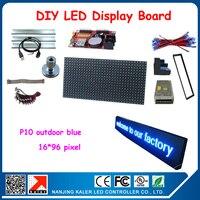 Бесплатная доставка синий светодиод движущихся текстовый дисплей, светодиодные панели и все другие DIY комплекты электрические производств