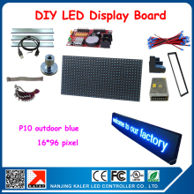 Free shipping blue led moving text display,led panel and all other diy kits electric production 24*104cm led display board
