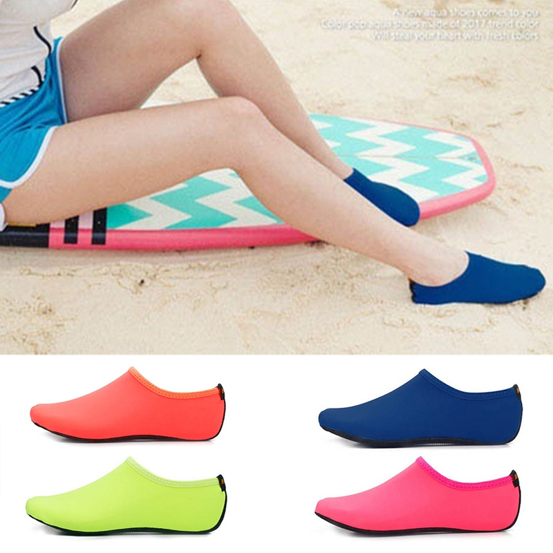 Stress Relief Toy Men Women Water Shoes Swimming Shoes Solid Color Summer Aqua Beach Shoes Seaside Sneaker Socks For Men Zapatos Hombre To Prevent And Cure Diseases