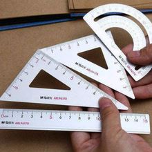 M&G Student Sets Foot Metal Protractor Ruler Triangle Ruler Four Sets