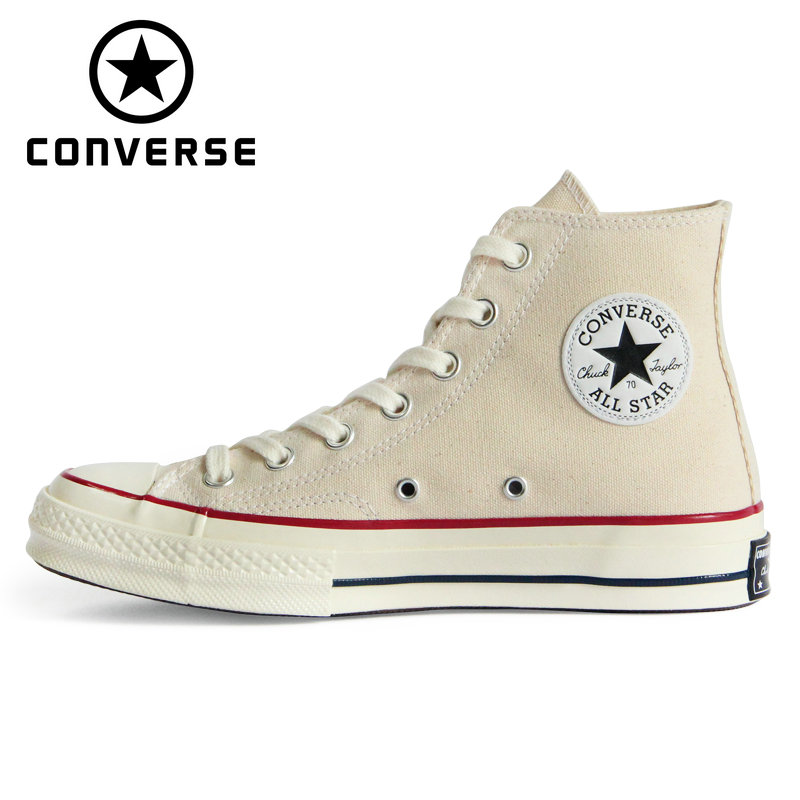 CHUCK 70 Original Converse 1970S all star shoes Beige high men and women s unisex sneakers
