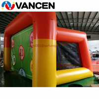 Portable inflatable soccer target for shooting sport game newest design football field inflatable soccer door for kid and adult