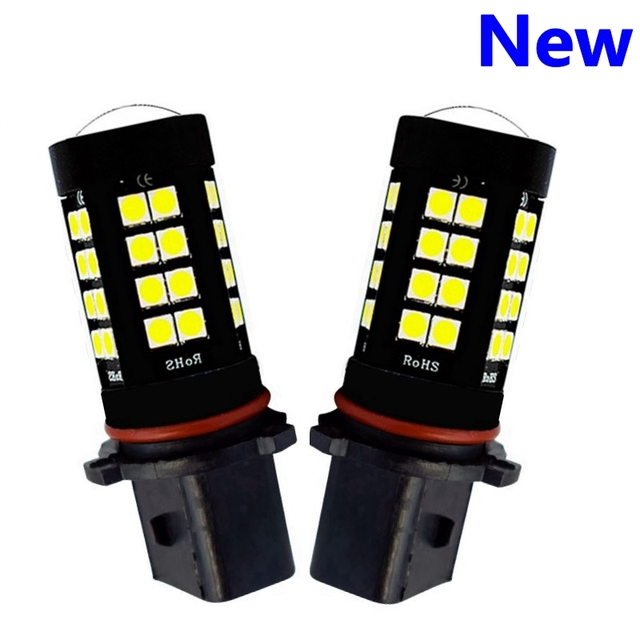 2Pcs P13W PSX26W Super Bright 1800Lm 3030 LED Auto Front Fog Lamp Car Daytime Running Lights DRL Driving Bulb 6000K Xenon White