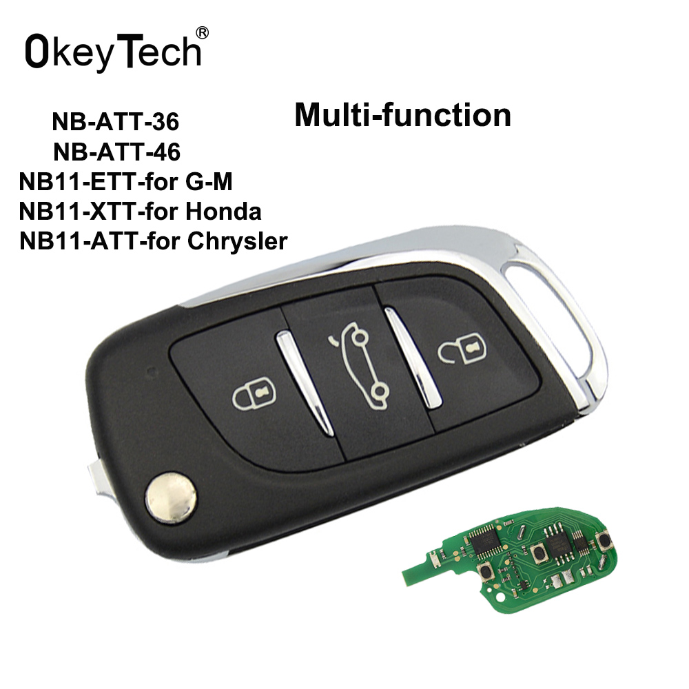 OkeyTech NB11 KD Remote Control Key 3 Button NB Series Universal Multi-functional for Keydiy KD900 URG200 KD200 Key Programmer free shipping 5pcs lot b01 3 button kd900 remote key b series for keydiy programmer urg200 kd900 kd200