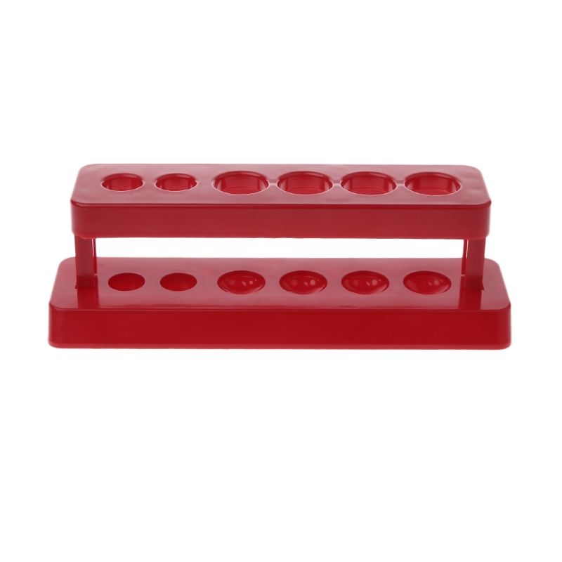 1pcTest Tube Holder 6 Hole Plastic Rack Red Stand Burette Stand Shelf Laboratory