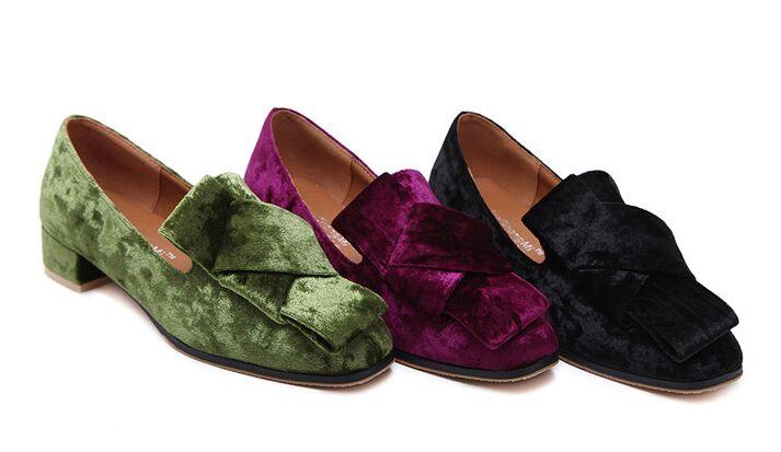 NEW Fashions Square Tendon Bottom Suede Single Shoes Women JiaoShangMi Causal Sneakers