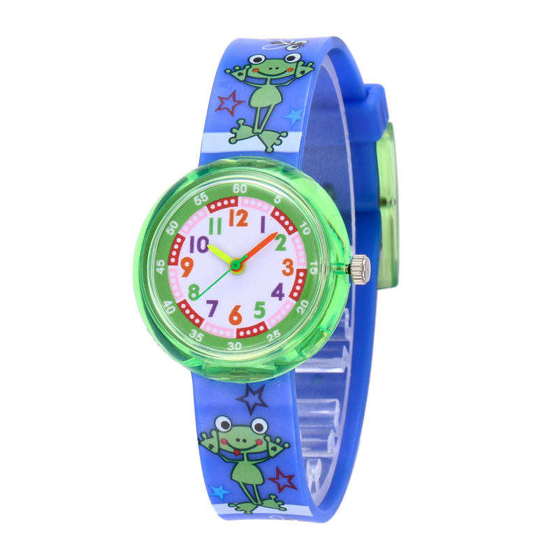 11 Designs Christmas Gift Cute Frog Girl Watch Children Fashion Watch SportS Jelly Cartoon New Boy Watch Kids Montre Reloj Saat