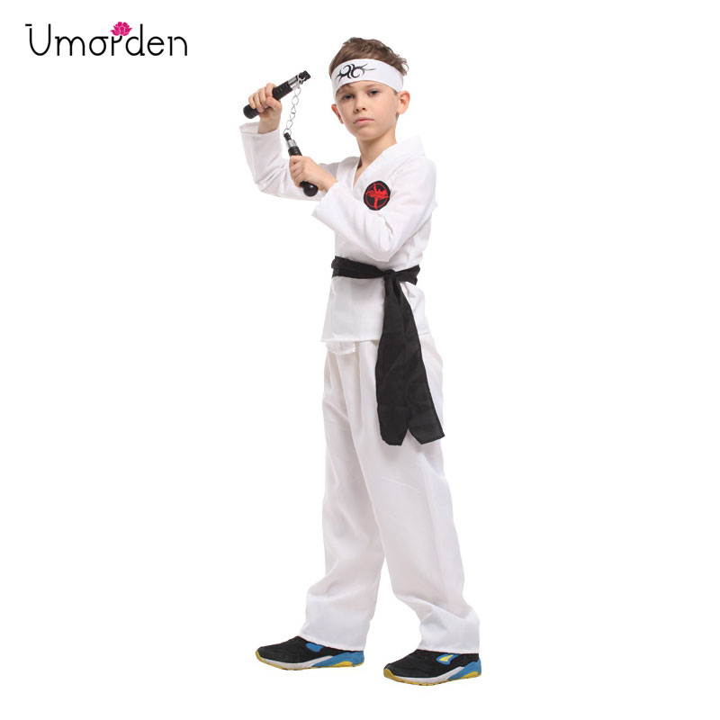 Umorden Fantasia Karate Boy Cosplay Costume Boys Kids Children Halloween Purim Carnival Disfrace