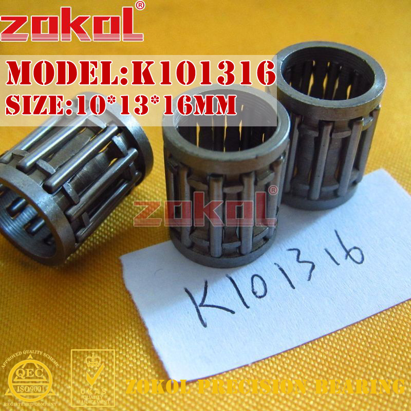ZOKOL bearing K101316 needle roller and cage assembly 10*13*16mm na4910 heavy duty needle roller bearing entity needle bearing with inner ring 4524910 size 50 72 22