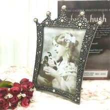 European Luxury Crown Pearl Photo Frame Retro Table 6 7 Inch Personality Decoration Picture Frame european retro photo frame creative american 7 inch photo painting frame study decoration restaurant decoration photo frame