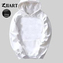 Boys Man Male fleece Hoodies Black Gray White Navy Blue Royal Pink Red Yellow Solid Pure Color couple clothes ZIIART