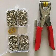 100 наборов, Серебристые цвета, 9,5 мм, металлические медные зубчатые кнопки, крепежные кнопки, пресс-шпильки, попперы с плоскогубцами