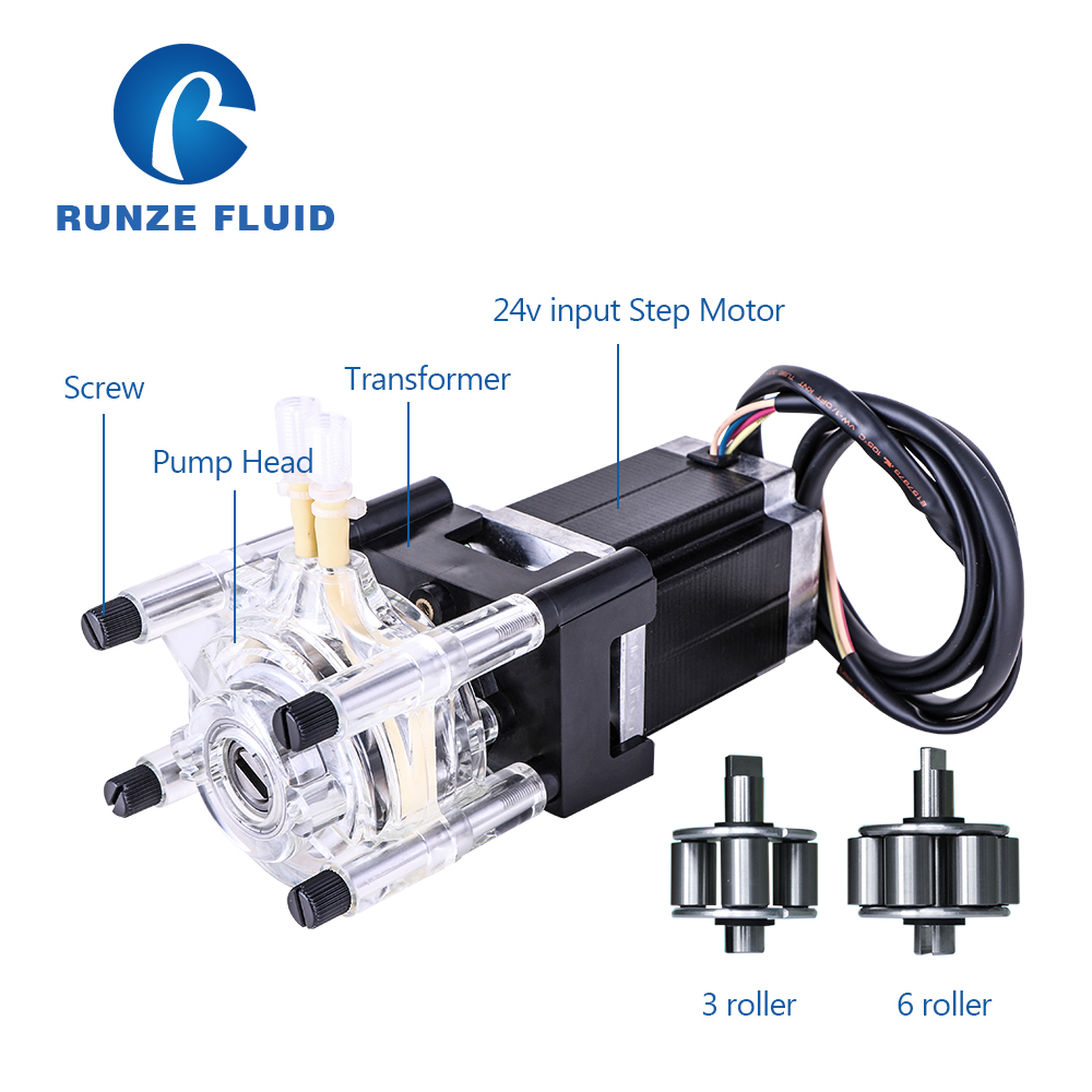 Flow Adjustable Stepper Motor Peristaltic Dosing Pump for Chemicals  Fluid Nutrient Metering-in Pumps from Home Improvement    1