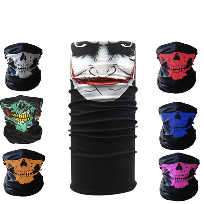 1PC New Skiing Mask Skull Face Mask Scarf Ski Mask Ghost Balaclava Masks Cycling Head Scarf Neck Halloween Party Face