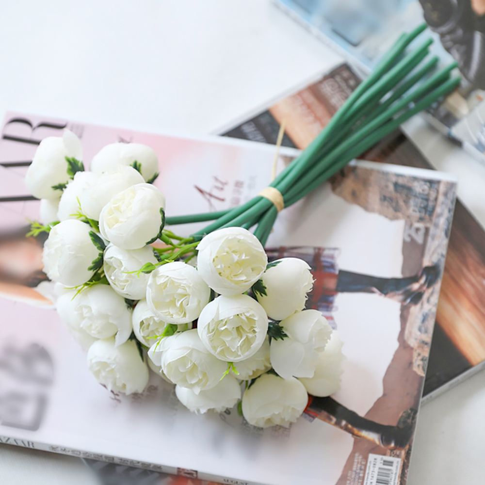 Silk Feeling Artificial Flower For Wedding Artificial Camellia Flowers Bridal Wedding Bouquets Camellia Arrangements Home Decor