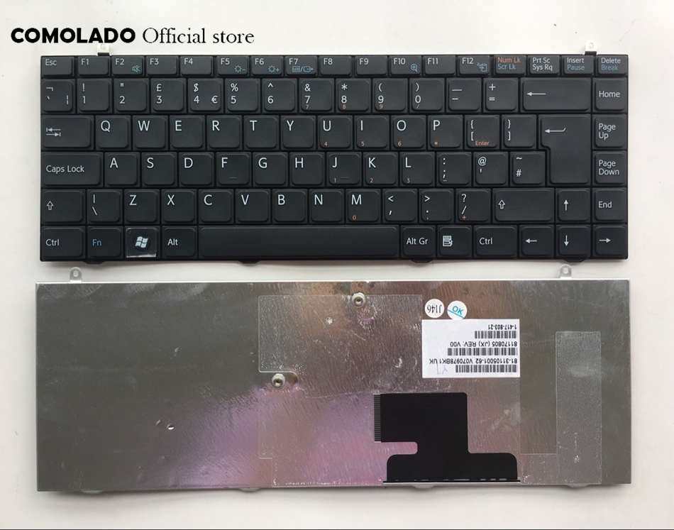 UK Keyboard For SONY FZ VGN-FZ FZ38 FZ323 FZ145E Black keyboard Layout