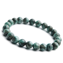 100% Natural Green Emerald Crystal Fashion Round Beads Bracelet 8mm Gemstone Women Stone Rarest Jewelry AAAAA