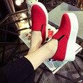 2016 новая коллекция весна женщин способа туфли на платформе женщина платформа эспадрильи холст обувь женщин туфли на платформе