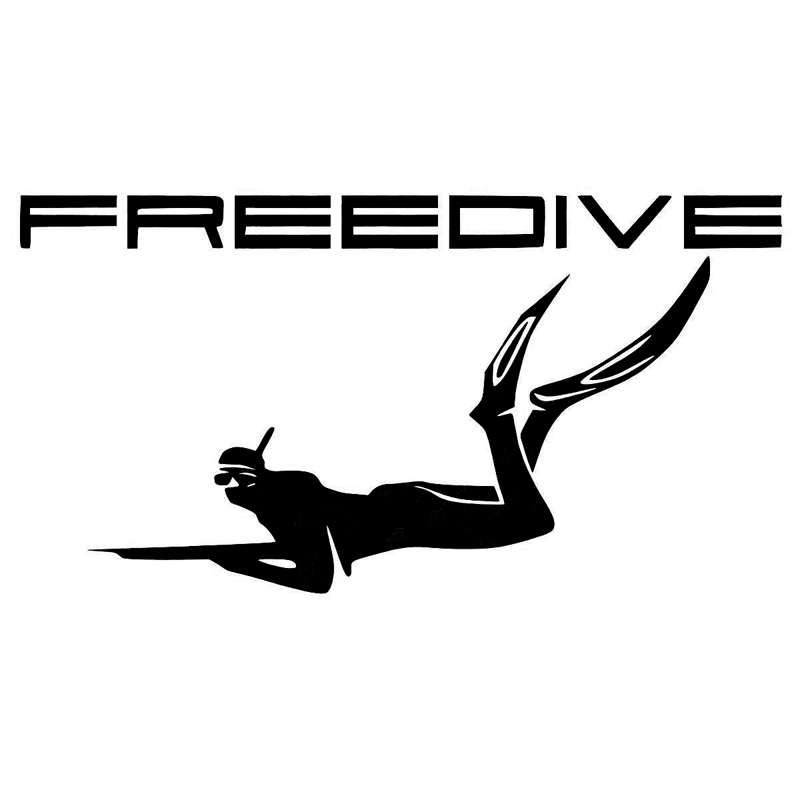 16.2cm*8.5cm Freediving Fishing Spearfishing Stickers Decals Motorcycle Vinyl S4-0204