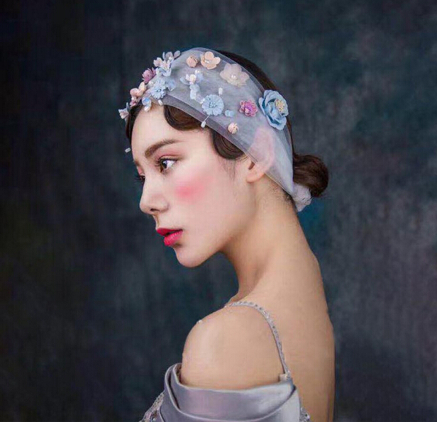 rural bridal wedding turban headband